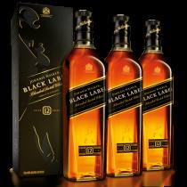 Johnnie Walker Black Label 750 ml x 3 botellas