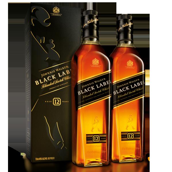 Johnnie Walker Black Label 750 ml x 2 botellas