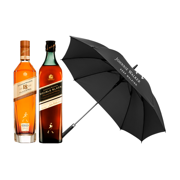 Johnnie Walker 18 años, Double Black + Paraguas de regalo!
