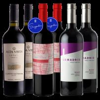 Lamadrid Bonarda 2018 + Casarena Corte Singular 2019 + Alta Vista Estate Premium Cabernet Sauvignon 2019