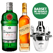 Johnnie Walker + Tanqueray + Barset de REGALO!