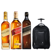 Johnnie Walker Gold Label Reserve, Red y Double Black + Mochila Carry On de regalo!