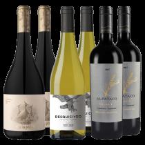 Las Perdices Reserva Bonarda + Desquiciado Pinot Gris + Alpataco Select Cabernet