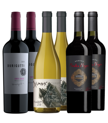 Durigutti Corte Único - Xumek Chardonnay - Piedra Negra Cabernet Sauvignon