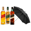 Johnnie Walker Red Label, Green y Double Black + Paraguas de REGALO!